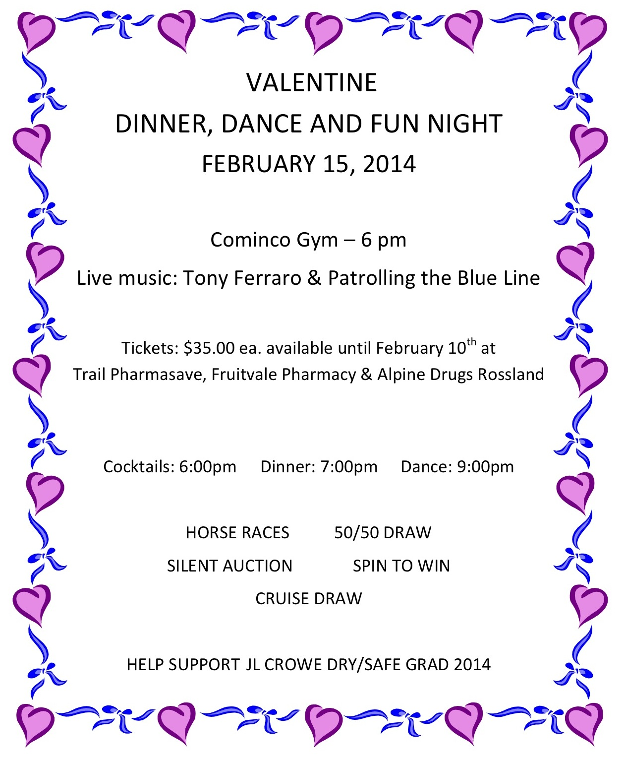 Valentine Dance Poster 2 Trail And District Chamber Of Commerce
