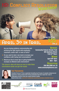 HR: Conflict Resolution Workshop @ Community Futures Greater Trail | Trail | British Columbia | Canada